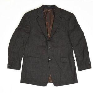 Calvin Klein Big & Tall 42L Brown   Sport Coat Bla